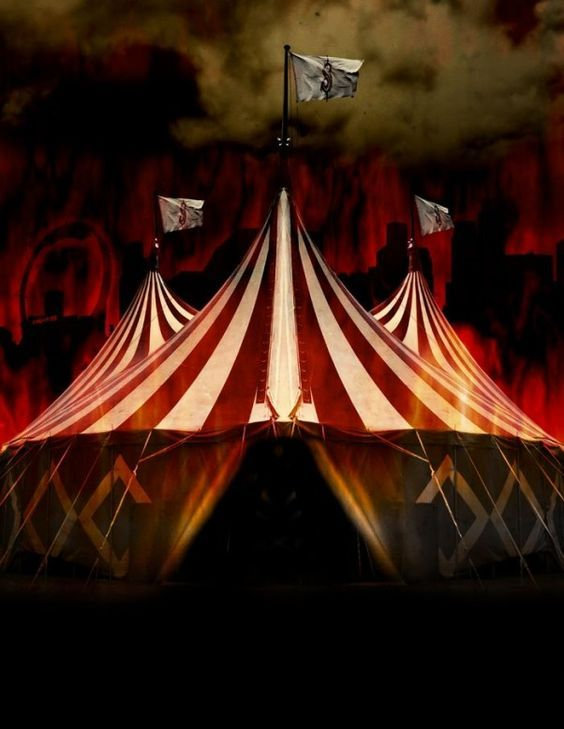 Eerie big top | Welcome to the circus... in 2019 | Halloween circus ... vector library stock