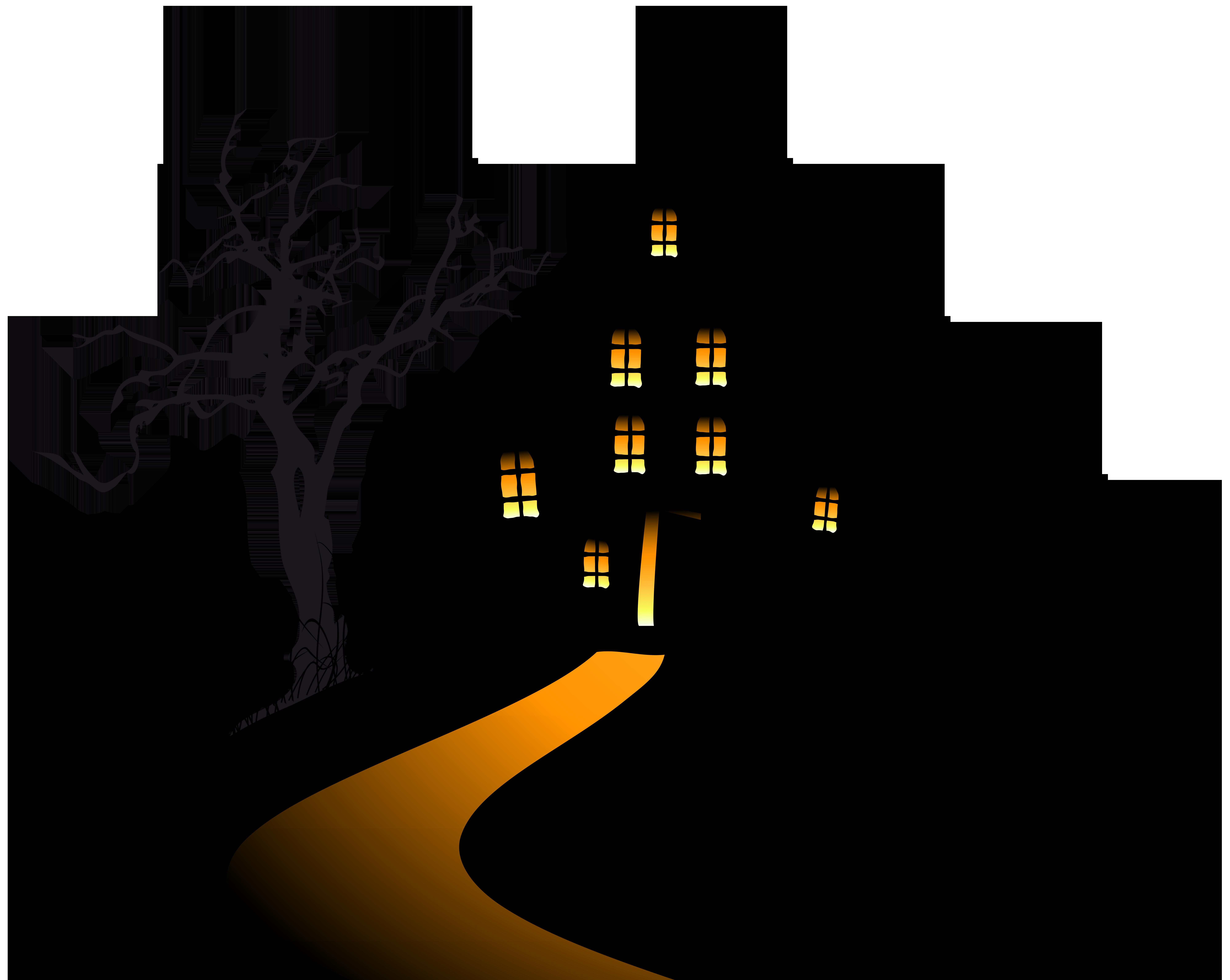Creepy clipart svg royalty free stock Halloween Creepy Castle Clip Art Image | Gallery Yopriceville ... svg royalty free stock