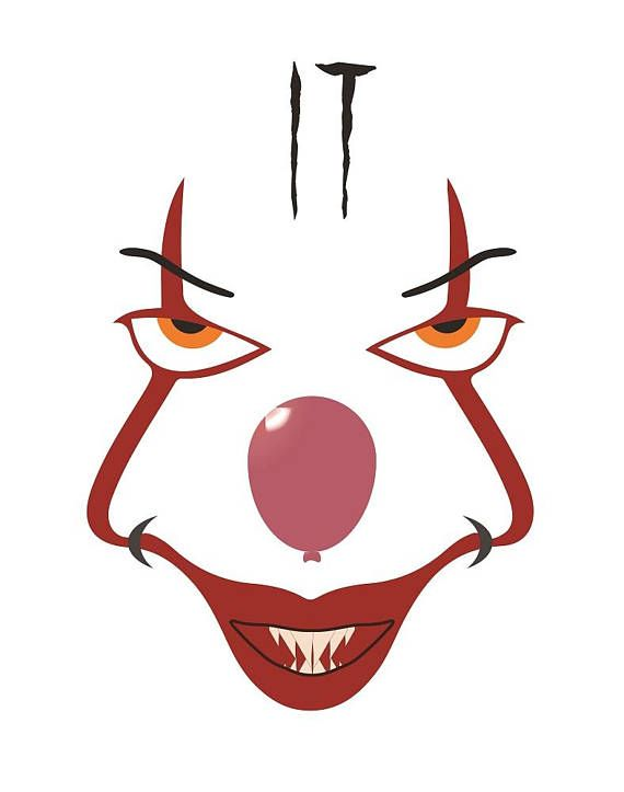 Creepy clown clipart do not say check out these pictures graphic free download Pennywise SVG, IT Pennywise The Clown, Cricut Cut File, Silhouette ... graphic free download