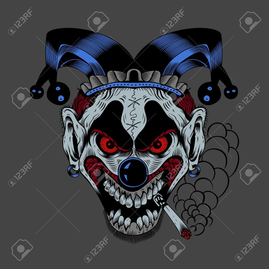 Creepy clown clipart do not say check out these pictures graphic free library Psychotic jester clown | Psychotic Clowns | Scary clown drawing ... graphic free library