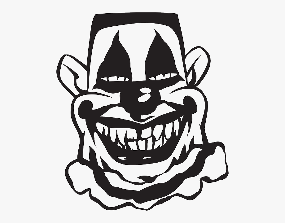 Creepy smile clipart clip art freeuse Scary Clown, Circus, Smile, Entertainment, Creepy, - Scary Clown ... clip art freeuse