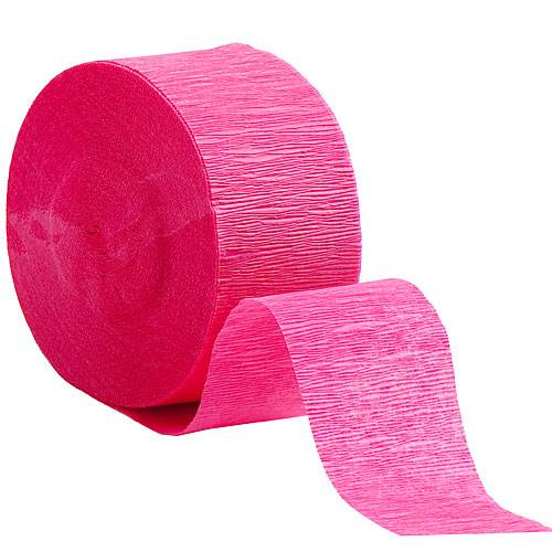 Crepe paper clipart banner library Hot Pink Crepe Streamers banner library
