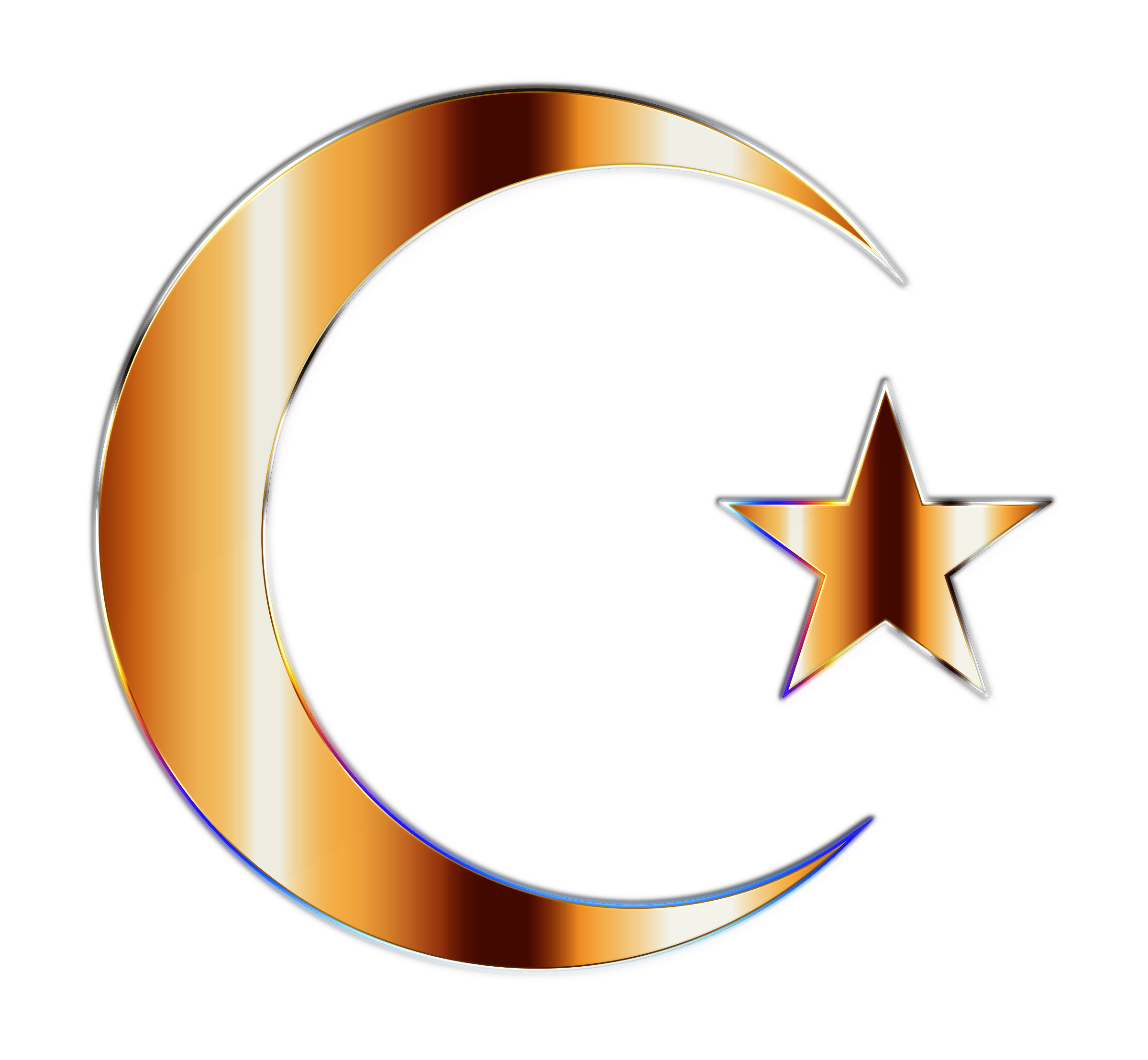 Moon and star clipart image transparent stock Clipart - Golden Crescent Moon And Star image transparent stock