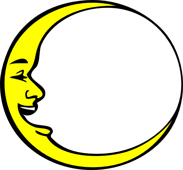 Crescent moon and star clipart clipart royalty free library Crescent Moon Smiling Clip Art at Clker.com - vector clip art online ... clipart royalty free library