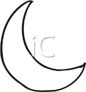 Crescents clipart clipart royalty free download Black and White Crescent Moon - Royalty Free Clipart Picture clipart royalty free download