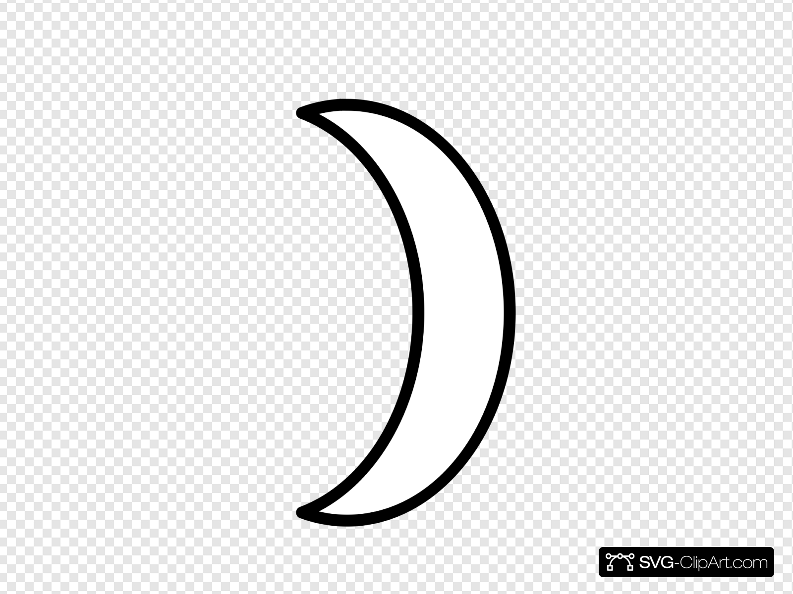 Crescents clipart image library stock Crescent Clip art, Icon and SVG - SVG Clipart image library stock