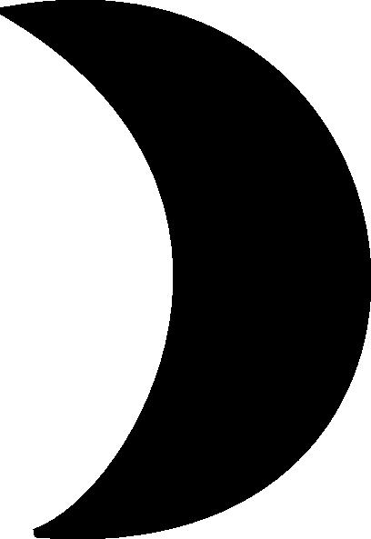 Black Crescent Moon Clip Art at Clker.com - vector clip art online ... clip art black and white