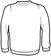 crewneck sweatshirt clipart #4