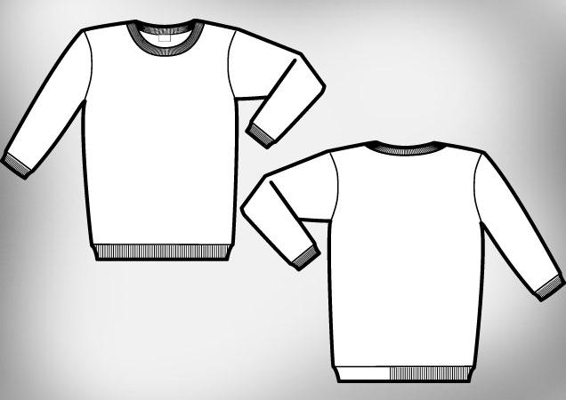 crewneck sweatshirt clipart #10