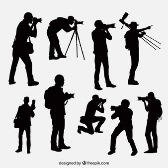 Crewpositions clipart black and white Cameraman Vectors, Photos and PSD files | Free Download black and white