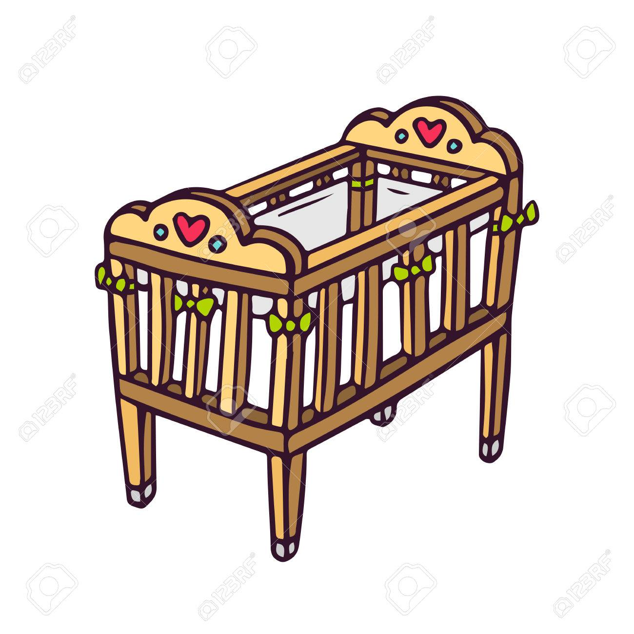 Crib baby clipart vector royalty free download Collection of 14 free Crib clipart cradle bamboo clipart sign ... vector royalty free download