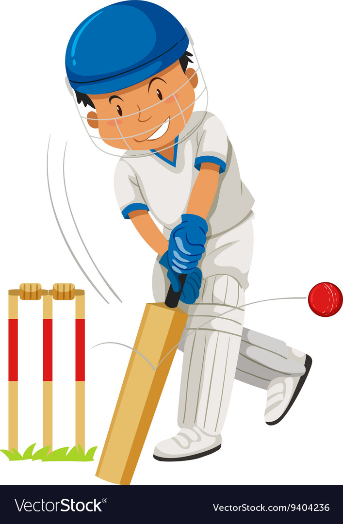 Cricket ball and bat clipart banner free Cricket player hitting ball with bat banner free