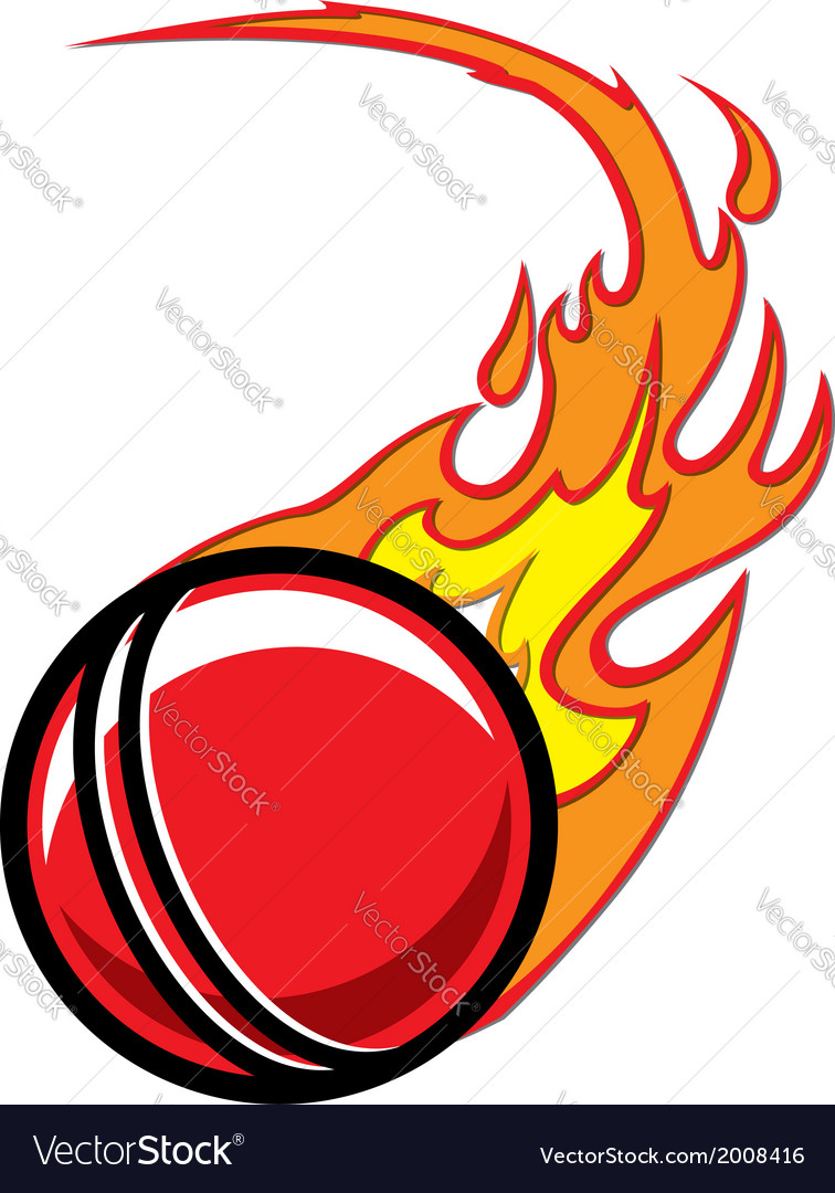 Cricket ball logo clipart graphic black and white Flaming Cricket Ball graphic black and white