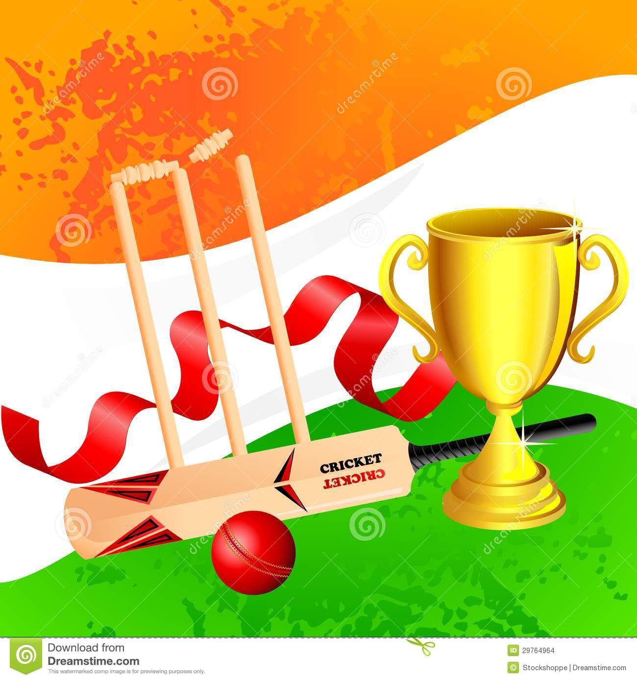 Cricket trophy clipart