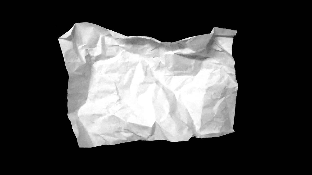 Crumpled Paper HD clip transparent download