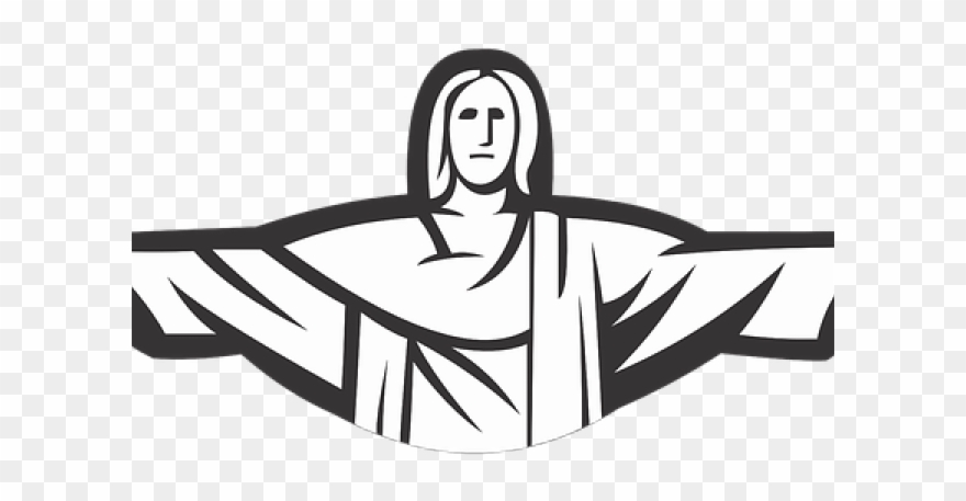 Christ The Redeemer Clipart Cristo Redentor - Christ The Redeemer ... graphic black and white download