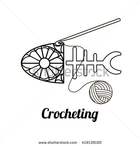 Crochet clipart logo cartoon black and white picture transparent library Crochet Hook Stock Images, Royalty-Free Images & Vectors ... picture transparent library