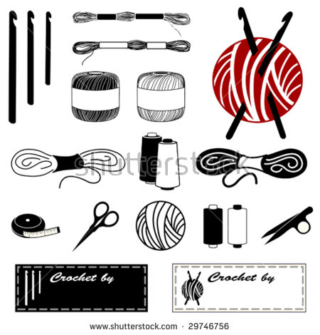 Crochet clipart logo cartoon black and white clipart freeuse stock Crochet Hook Stock Images, Royalty-Free Images & Vectors ... clipart freeuse stock