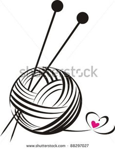 Crochet clipart logo cartoon black and white clip free stock Black and White Knitting Set - Free Clip Art | Embroidery 3 ... clip free stock