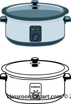 Crockpot clipart picture black and white Pin by Christina Blankenship on Cricut | Kitchen clipart, Crockpot ... picture black and white