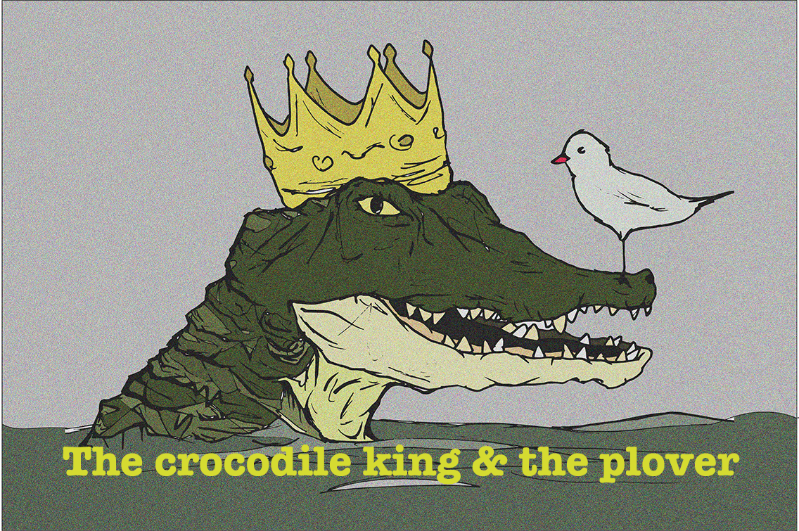 Crocodile and plover bird clipart black and white black and white stock In the Eyes of Kinetic Beasts – castrochronicles black and white stock