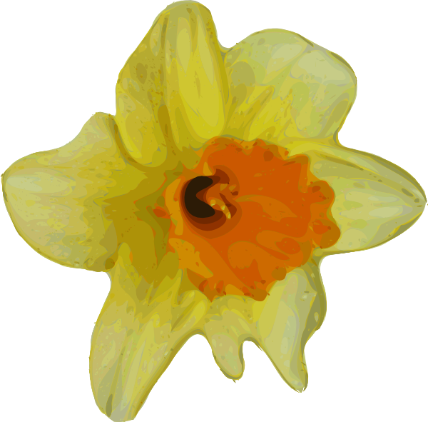 Crocus flower clipart jpg library library Yellow Crocus Clip Art at Clker.com - vector clip art online ... jpg library library