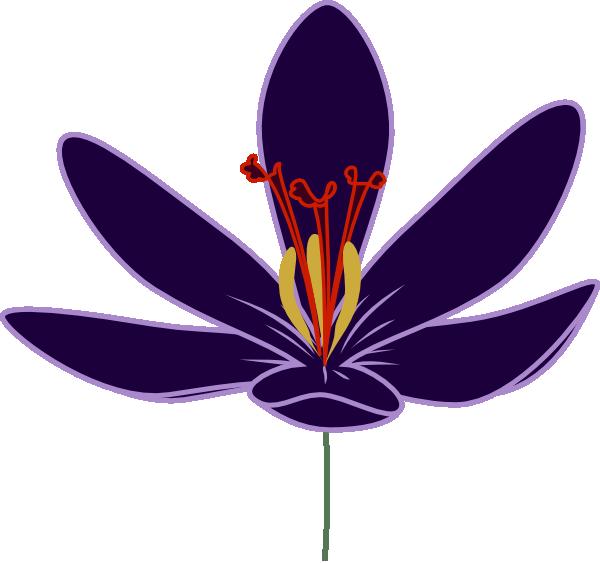 Crocus flower clipart clip transparent stock Crocus Blossom Clip Art at Clker.com - vector clip art online ... clip transparent stock