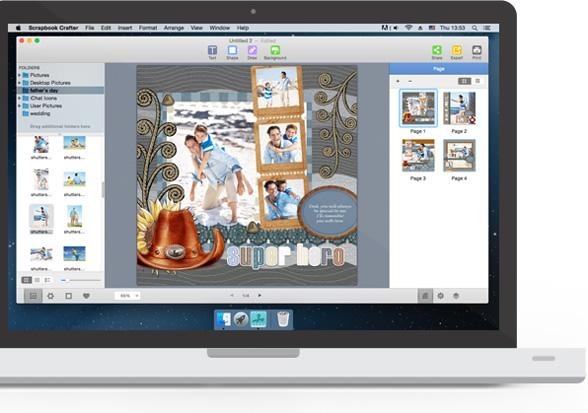 Digital Scrapbook Albums & Craft Ideas - Scrapbook Software ... clipart