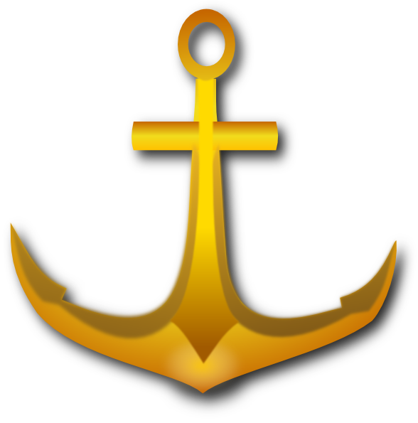 Cross and anchor clipart picture black and white library Golden Anchor Clip Art at Clker.com - vector clip art online ... picture black and white library