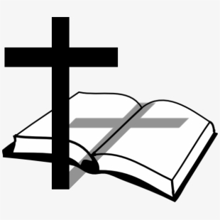 Cross and bible black and white clipart clip freeuse stock Bible And Cross - Open Bible And Cross #63438 - Free Cliparts on ... clip freeuse stock