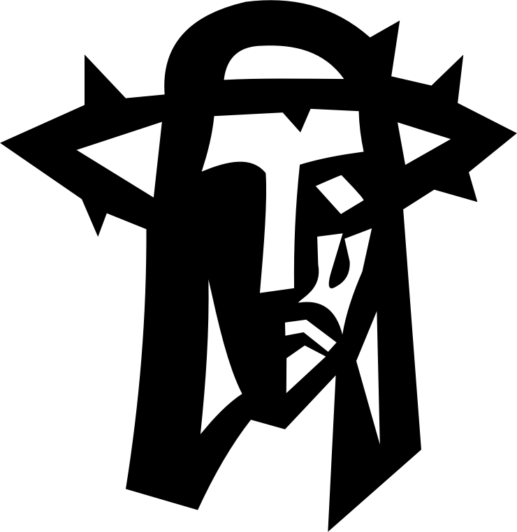 Cross and crown clipart. Jesus of thorns medium