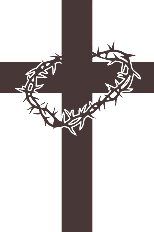 Cross with crown of thorns clipart jpg black and white library 28+ Collection of Cross With Thorns Clipart | High quality, free ... jpg black and white library