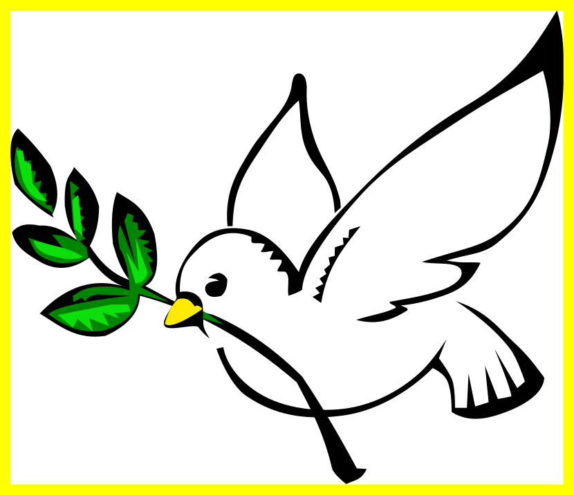 Cross and dove clipart transparent background picture black and white library Awesome Dove Of Peace Clipart Clipground Pict Transparent Background ... picture black and white library