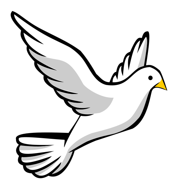 Cross swept with power of the spirit clipart. Dove transparent no background