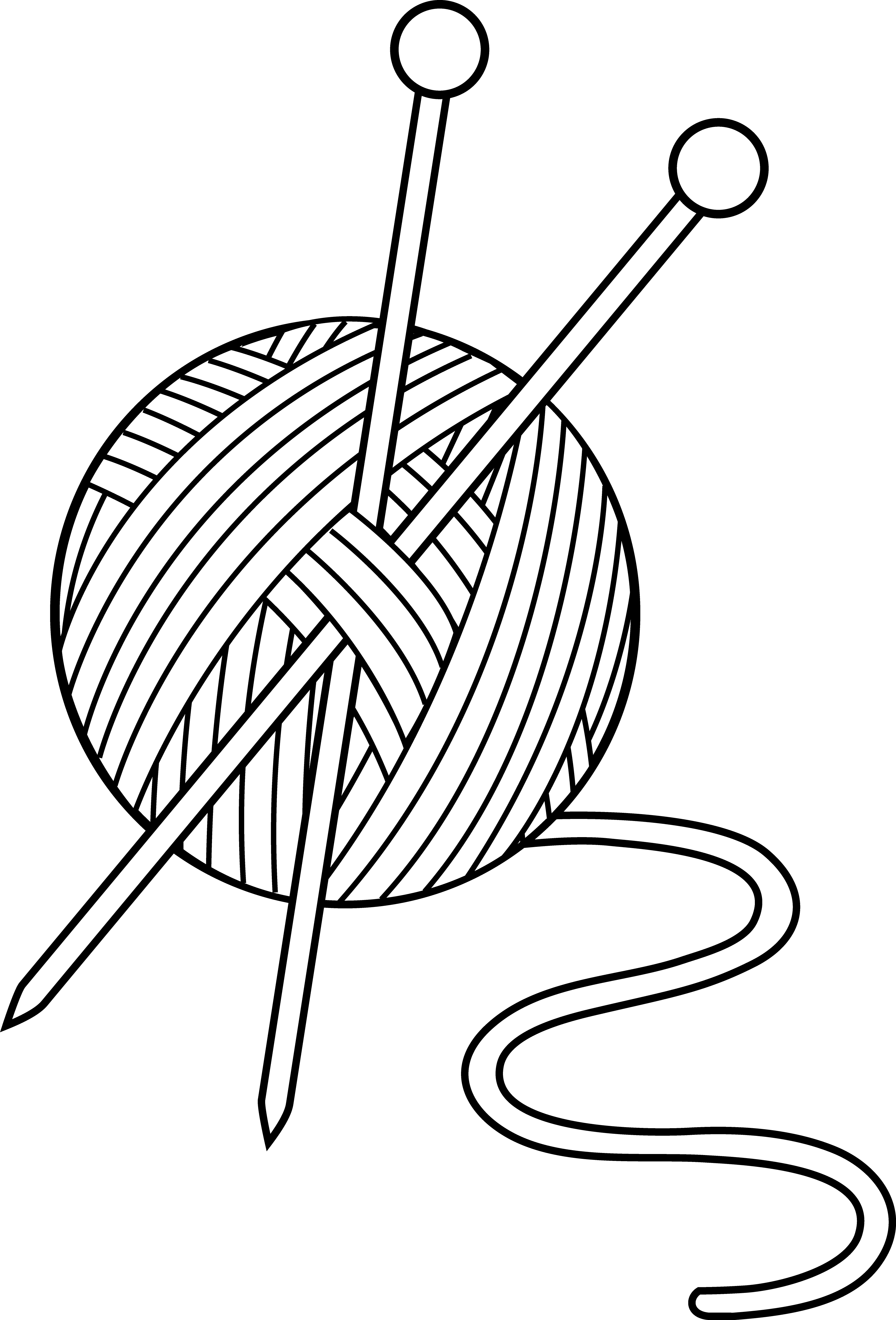 Cross and faith black and white clipart png black and white Black and White Knitting Set - Free Clip Art | bildites | Pinterest ... png black and white