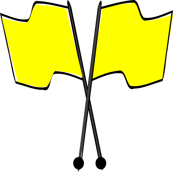 Yellow cross clipart clipart royalty free Crossed Yellow Flags Clip Art at Clker.com - vector clip art online ... clipart royalty free