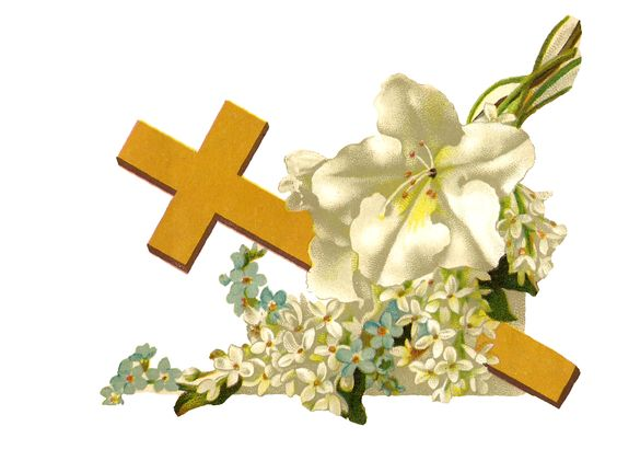 Cross and flowers clipart image royalty free download Antique Images: Free Religious Clip Art: Gold Cross and White ... image royalty free download