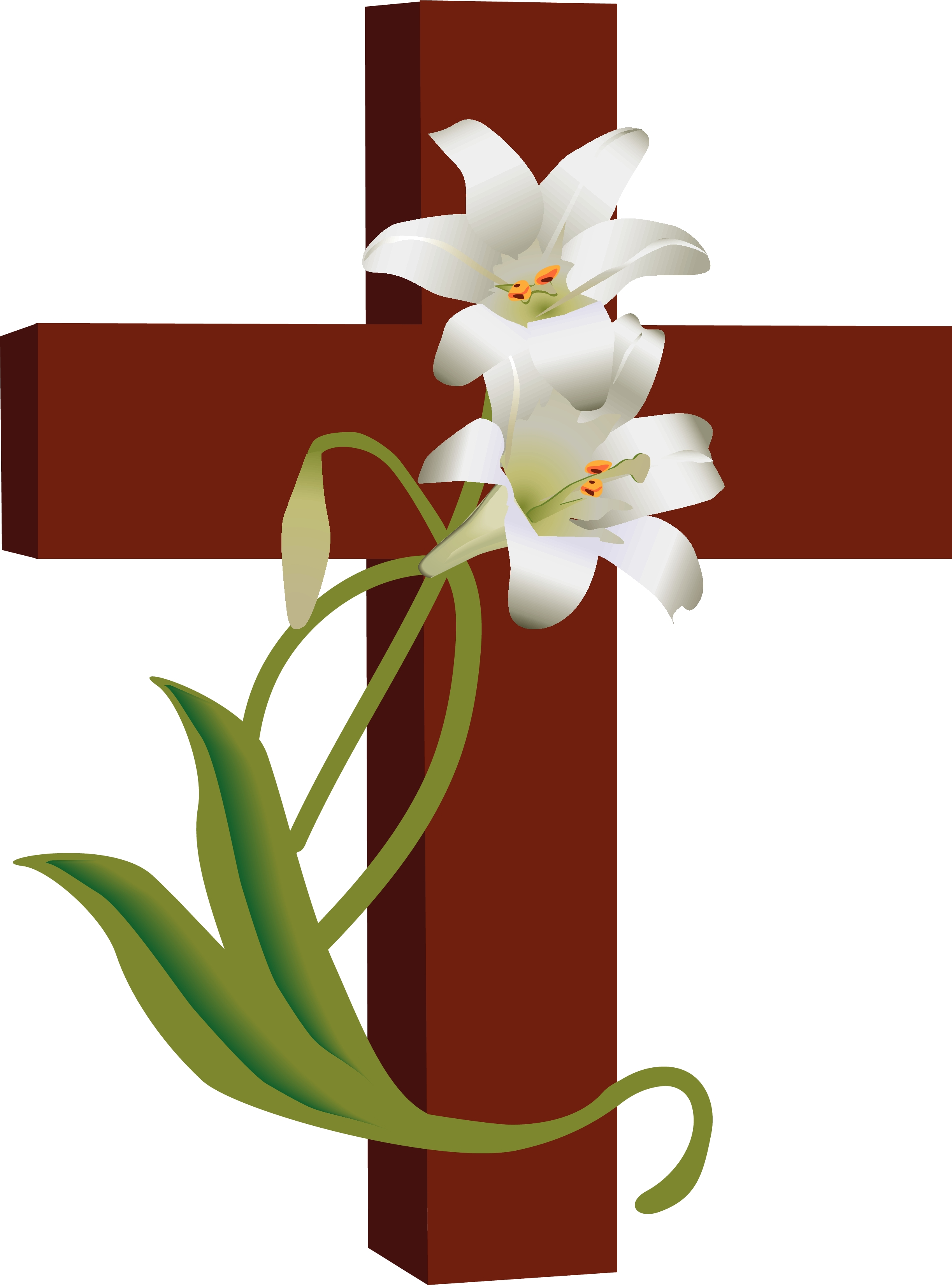 Cross with roses photo clipart photo - ClipartFest image royalty free