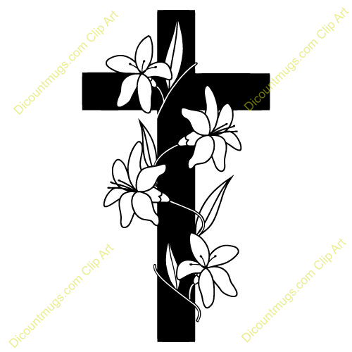 Cross and flowers clipart svg transparent download Cross With Flowers Clipart - Clipart Kid svg transparent download