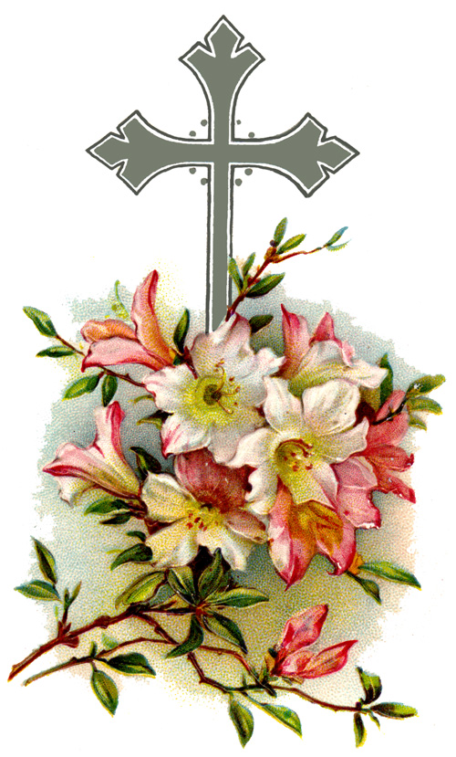 Cross and flowers clipart clip library library Cross With Flowers - ClipArt Best clip library library