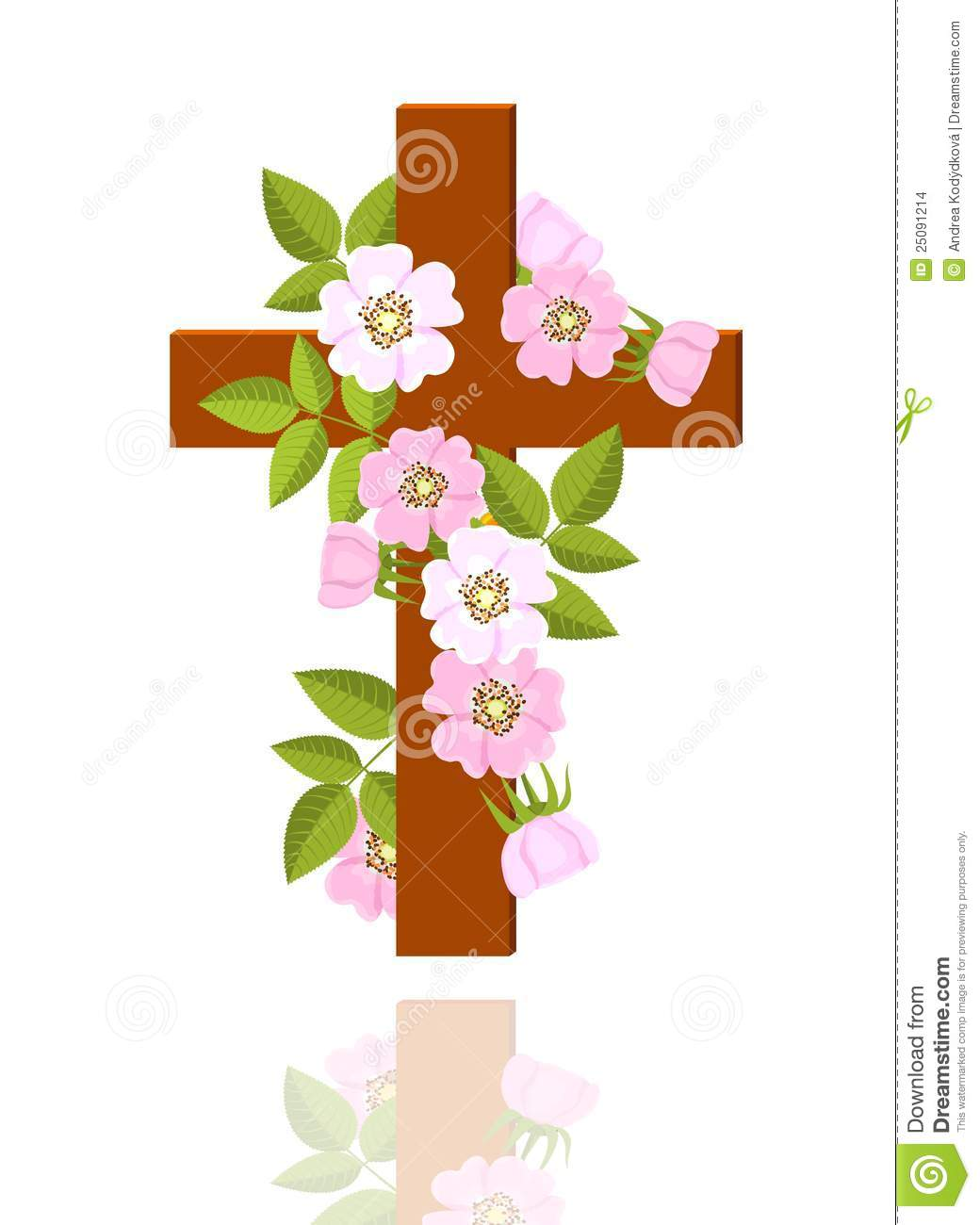Cross With Flowers Clipart - Clipart Kid clipart stock