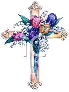 Cross and flowers clipart - ClipartFest picture freeuse download