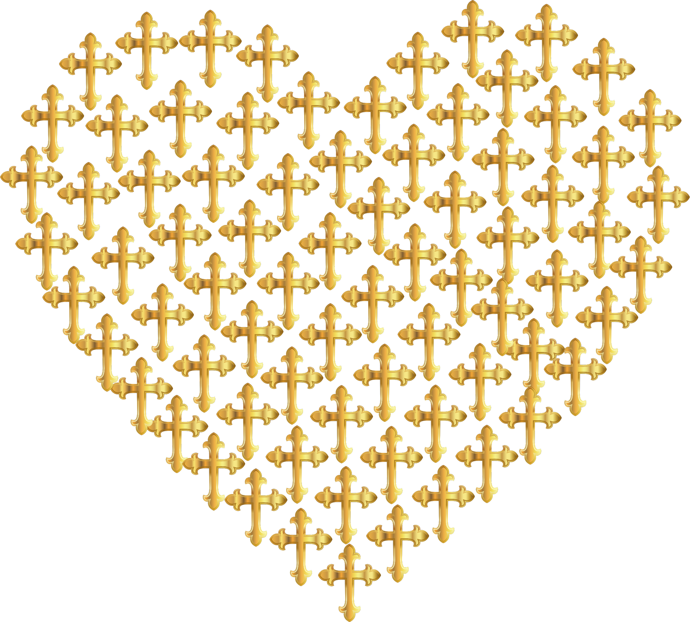 Cross and heart clipart with clear background clipart free library Clipart - Love Heart Crosses Gold No Background clipart free library