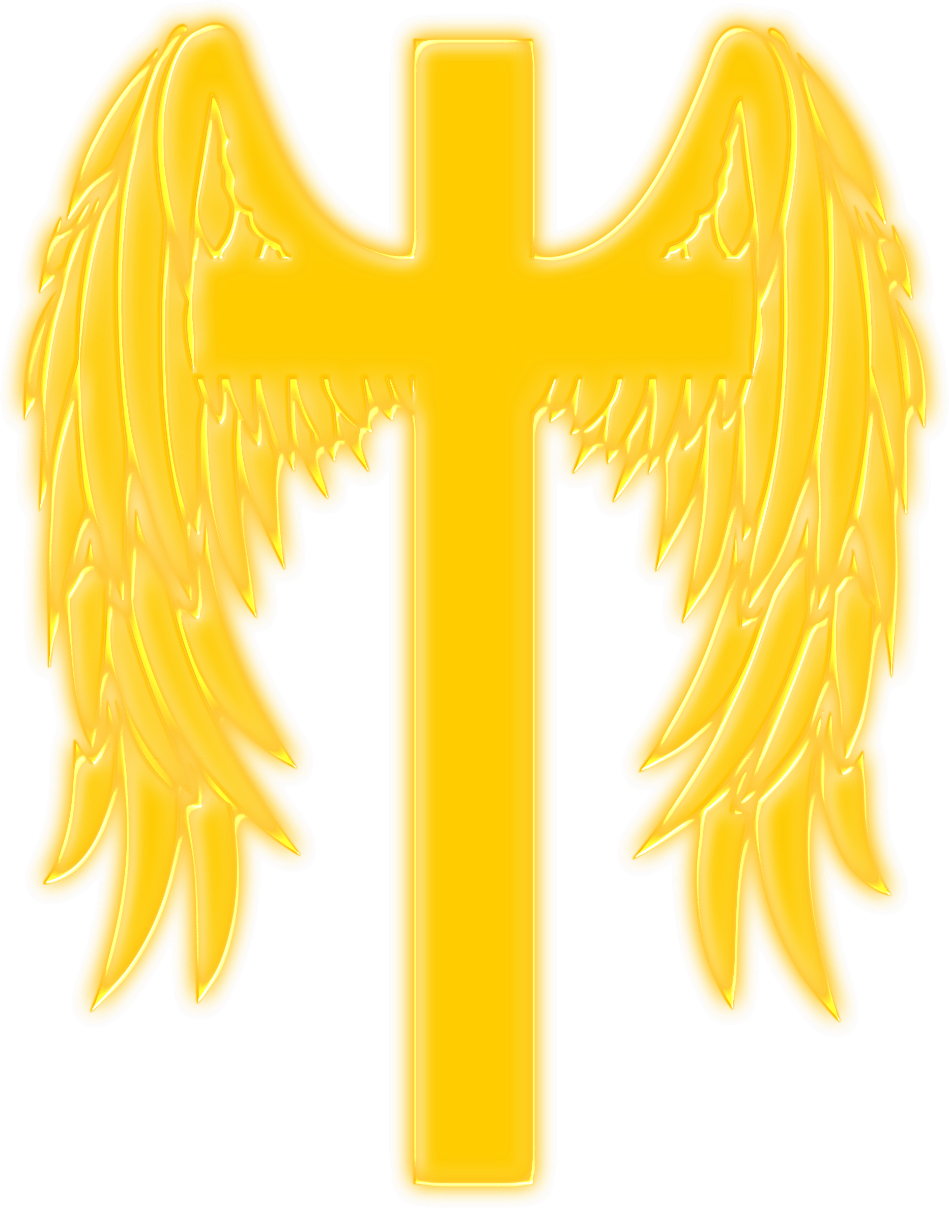 Clipart - Winged cross clip art freeuse stock