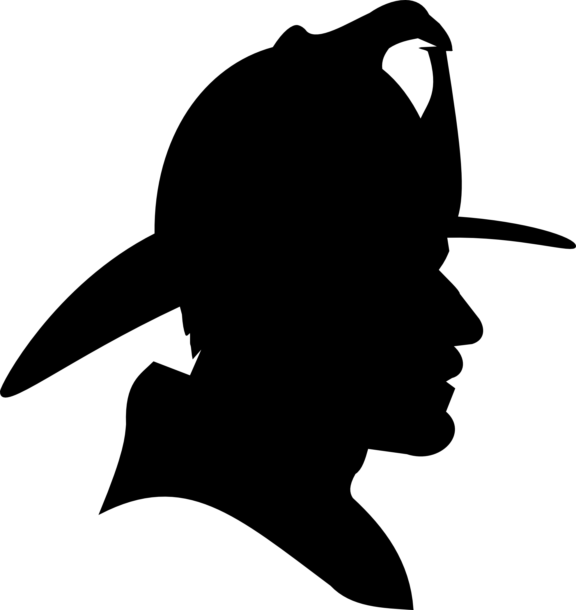 Fireman cross clipart image black and white stock Saturday Clip Art | clipartist.info Firefighter Profile Silhouette ... image black and white stock
