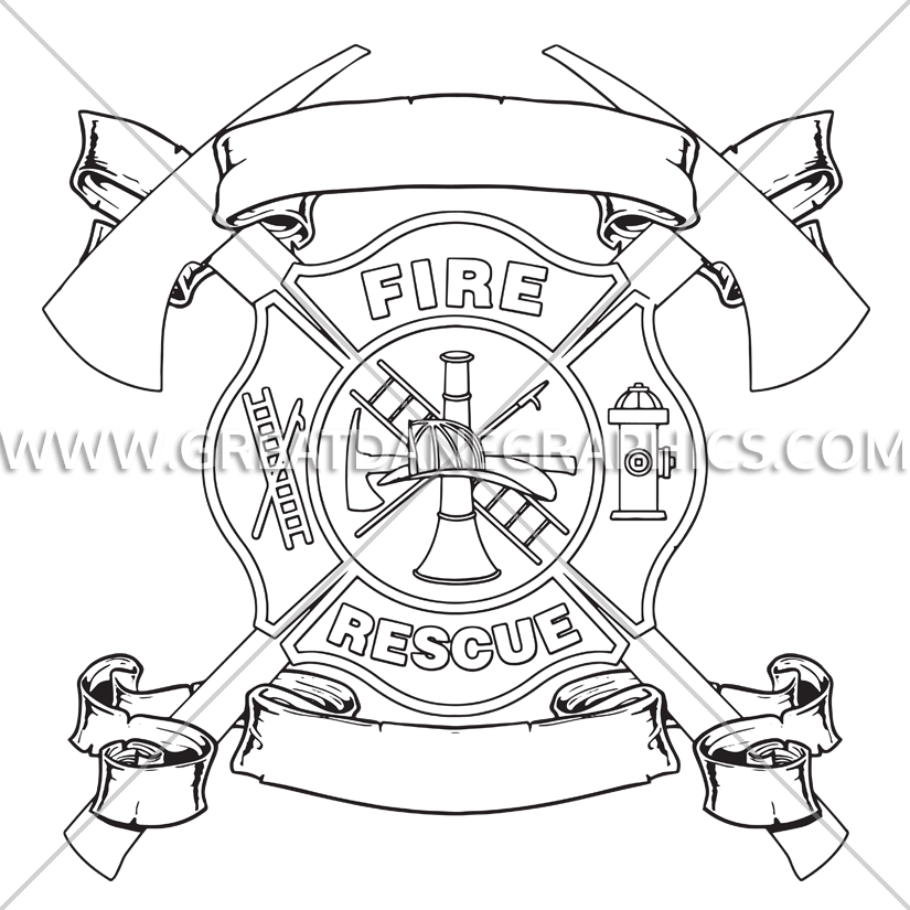 Maltese Cross With Axes | Production Ready Artwork for T-Shirt Printing banner download