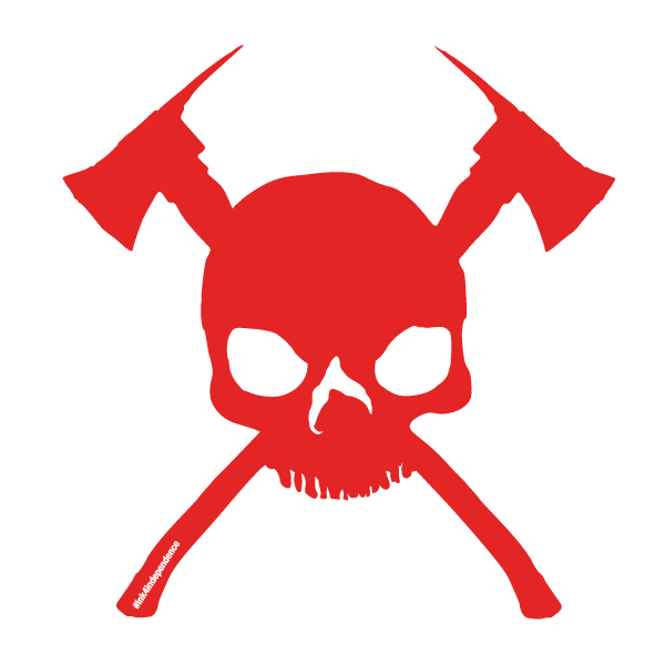 Skull and decal various. Cross axes clipart