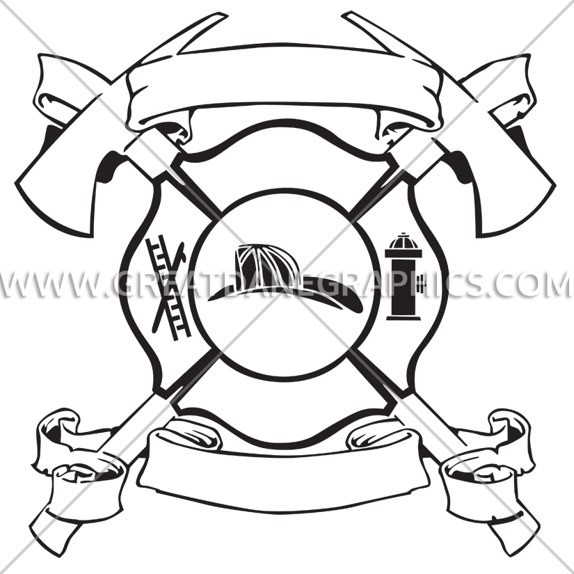 Cross axes clipart. Maltese with production ready