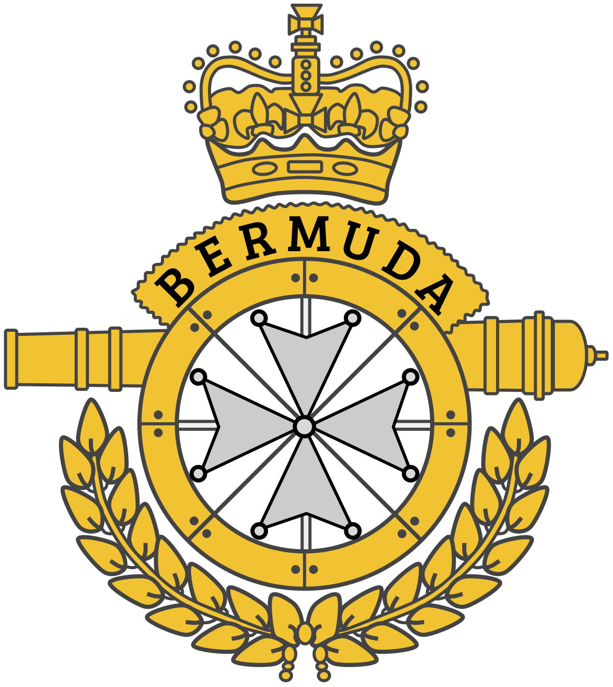 Cross batons clipart svg black and white library Royal Bermuda Regiment - Wikipedia svg black and white library