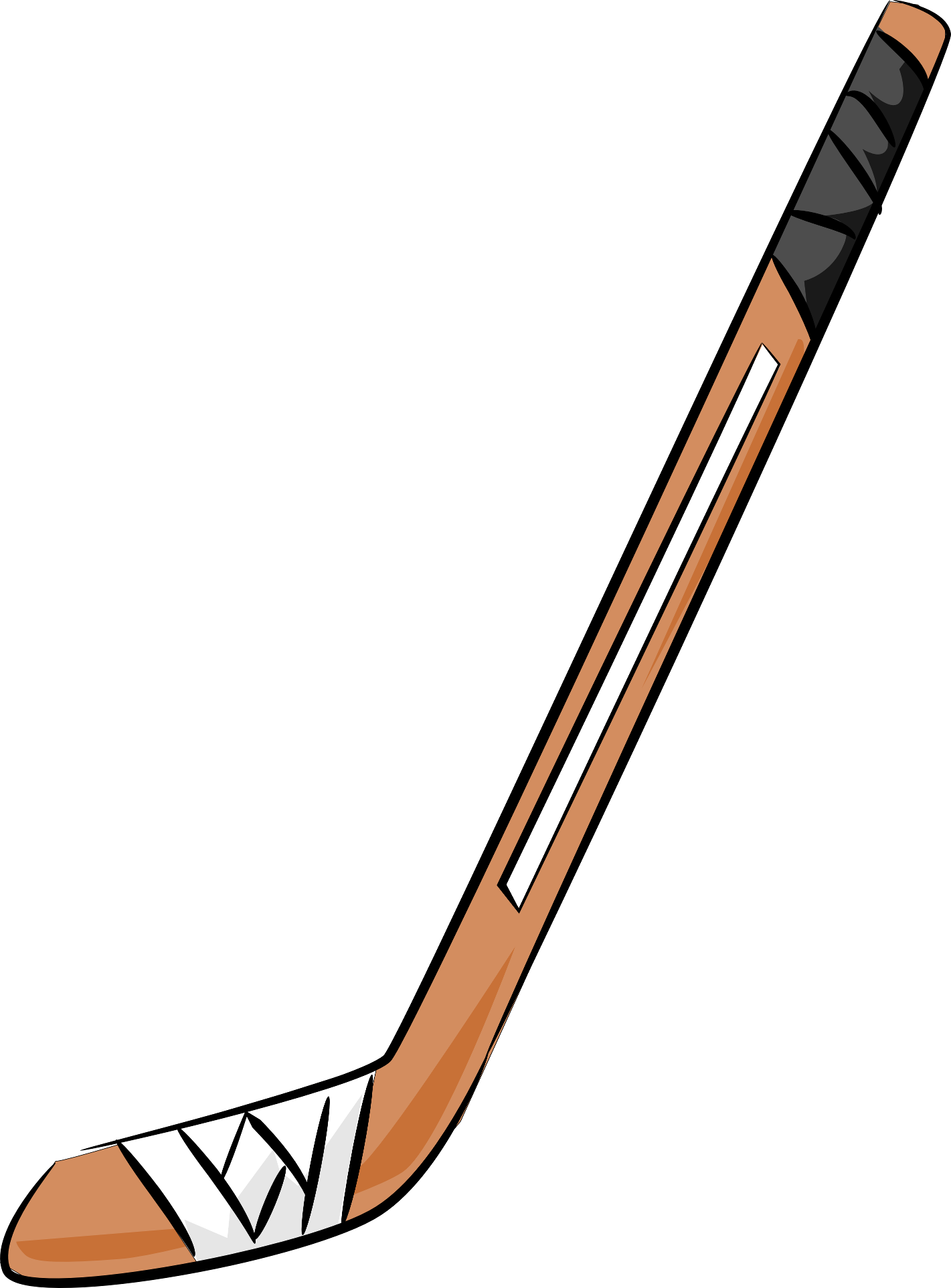 Cross batons clipart jpg black and white 28+ Collection of Hockey Stick Clipart Images | High quality, free ... jpg black and white